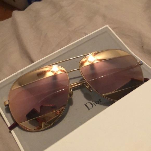 527a6915ea Dior Accessories - Dior women s split mirrored aviator